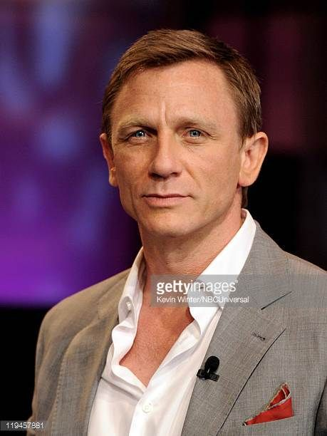 Actor Daniel Craig appears on The Tonight Show with Jay Leno at the NBC Studios on July 20 2011 in Burbank California