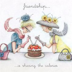 Cards » Friendship is sharing the calories » Friendship is sharing the calories - Berni Parker Designs