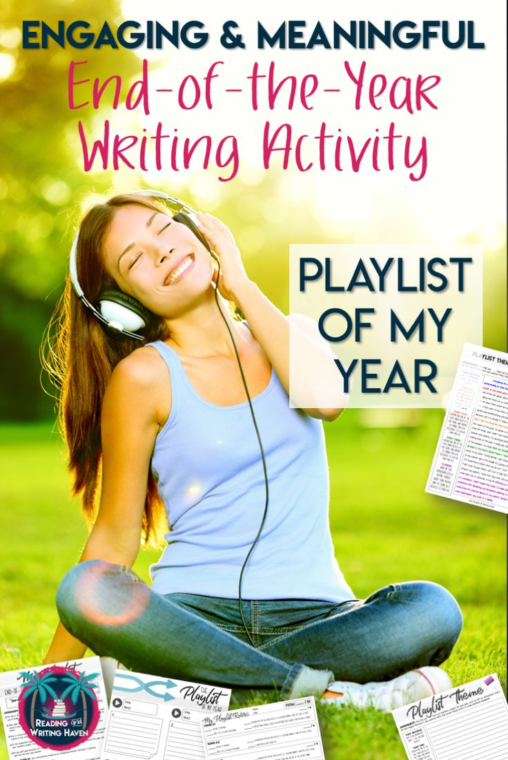 Engaging end-of-the-year music-based writing assignment for middle and high school English classes. #highschoolela #writingactivity