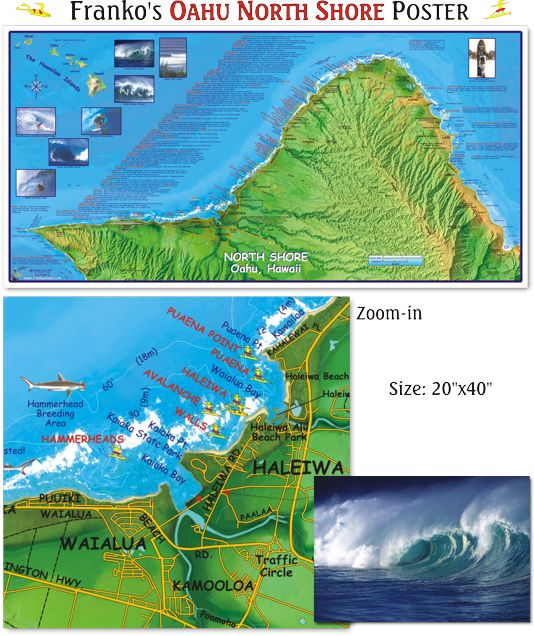 16 best images about hawaii maps on pinterest snorkeling for Fishing spots oahu