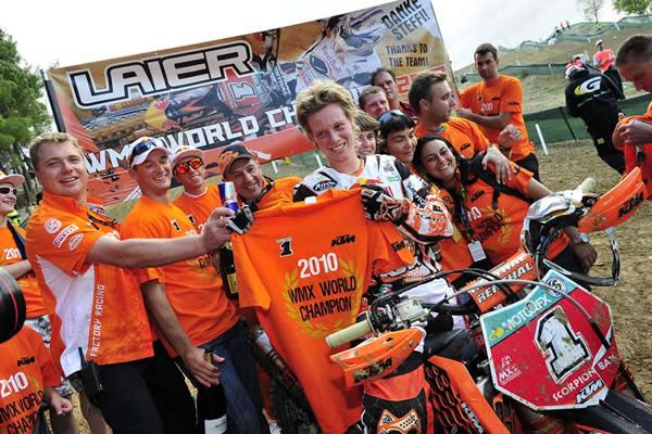 Stephanie Laier has been proclaimed the FIM Women's Motocross World Champion