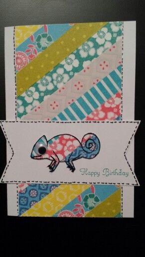 Geburtstagskarte für meine Nichte mit Washi Tape und Create a Smile Stamps