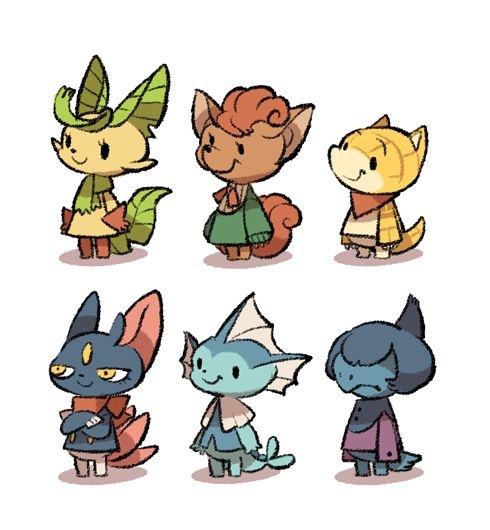 My friend says all my pokemon villagers looks too mildness, so I try to make some of them looks more… well, evil.  And you can see I failed.