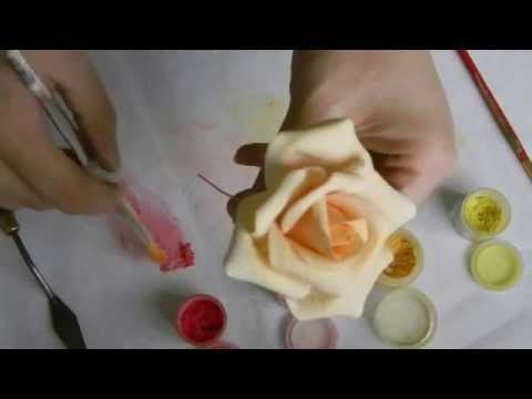 Kara's Couture Cakes - Finishing A Sugar Rose - YouTube