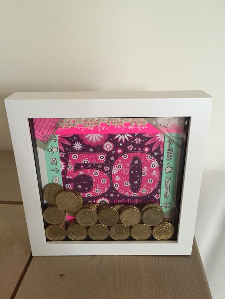 50 jaar kado made by me @home