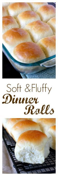 Soft and Fluffy Dinner Rolls - perfect for Thanksgiving dinner!