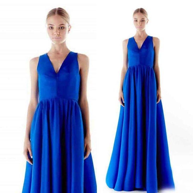 Дешевое 11 новое поступление 2015 длинные сексуальные синие вечерние платья плиссированные v образным вырезом элегантный атласные вечерние платья выпускного вечера платья майка онлайн, Купить Качество Свадебные платья непосредственно из китайских фирмах-поставщиках:       Примечания Перед покупкой:            1  : Это платье       Не включают каких-либо аксессуаров           Таких как