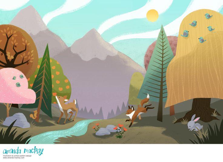 The Beautiful forest - by Amanda MacKay Illustration