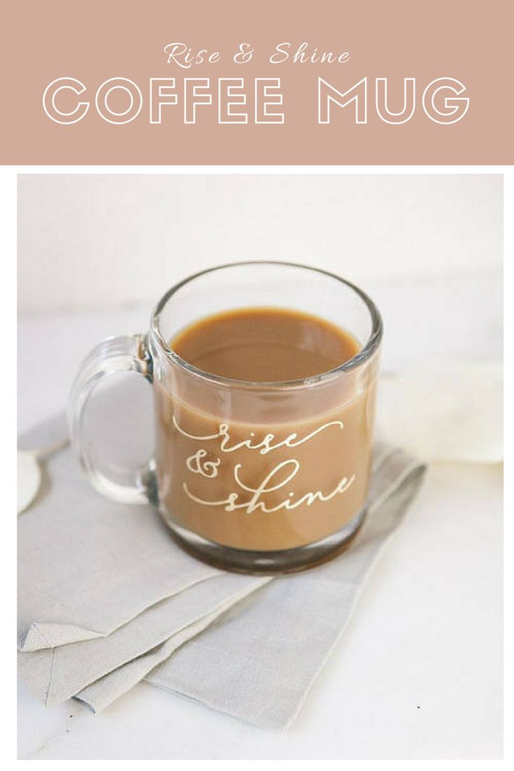 Rise & Shine Mug, Rise and Shine, Gold Custom Coffee Mug, Bridesmaid Gifts, Gift for Her, Calligraphy Unique Coffee Mugs, Cute Coffee Mugs #Etsy #coffee #mug