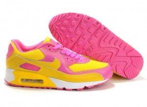 Nike Air Max 90 Damen Sneaker Gelb Pink