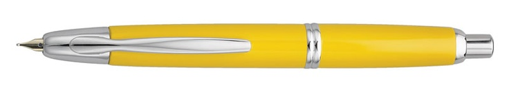 The Pilot Vanishing Point - one of the best fountain pens you can get at any price. Pity the converter holds so little ink because you just want to keep on writing with this beauty. Mine is a Yellow pen with Fine nib.