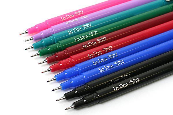 Marvy Le Pen Marker Pen Fine Point 8 Color 10 Pen