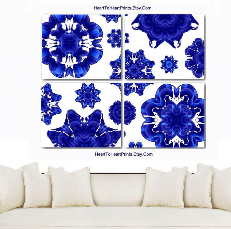 Cobalt Blue Wall Art, Cobalt Blue Wall Decor, Cobalt Blue Home Decor, Cobalt