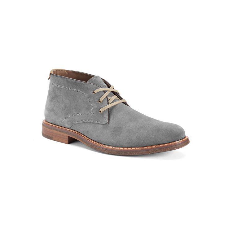 Chaps Vanderbilt Men's Suede Chukka Boots, Size: medium (8.5), Grey