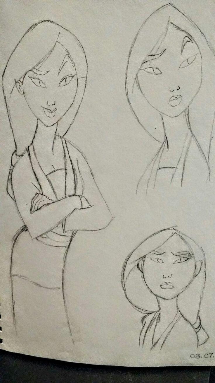 Mulan - Free Hand Sketch By: Anima Armah