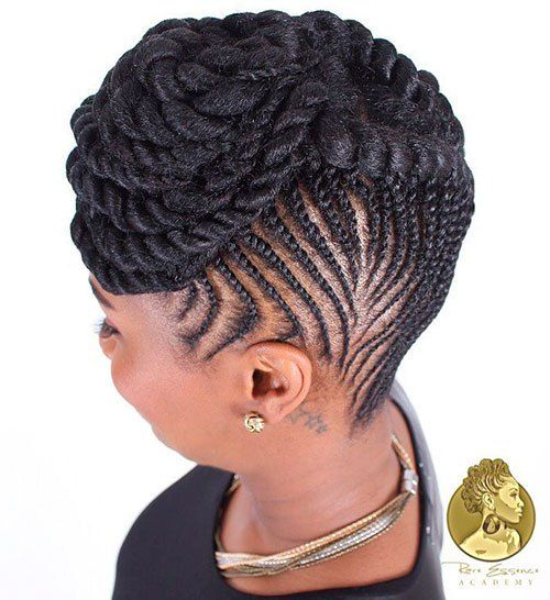 Flat Twist Cornrows Updo                                                                                                                                                     More