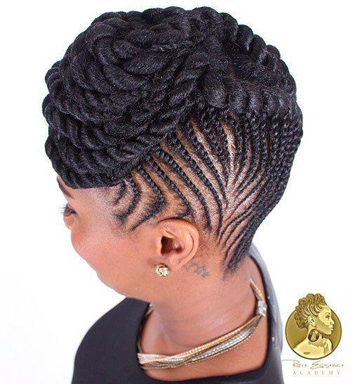 Astonishing 1000 Ideas About Cornrows Updo On Pinterest Cornrow Flat Twist Short Hairstyles For Black Women Fulllsitofus
