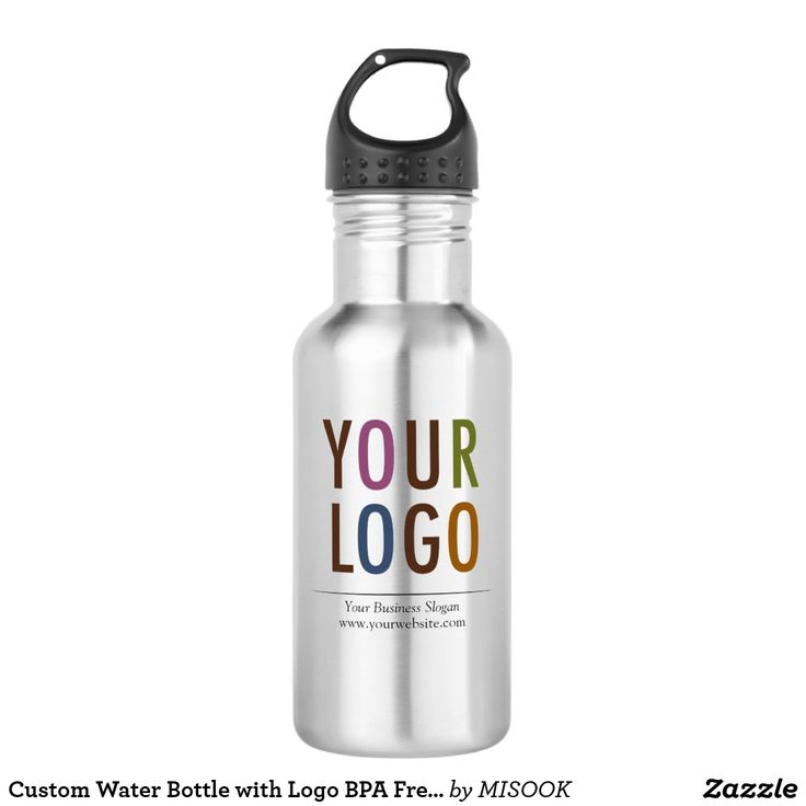 Custom Water Bottle with Logo BPA Free No Minimum