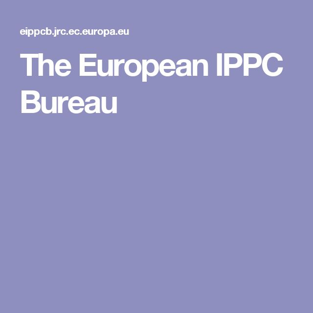 The European IPPC Bureau