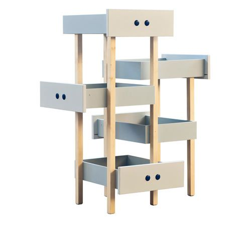 What kitty doesn't love to sleep in an open drawer? This is part of a project by Sovrappensiero Design Studio for Italian office furniture manufacturer Manerba, taking old office furniture and creating new products from the parts.  Just think of the possibilities here! I want to hit the thrift shops and see what I can come find to make my own!