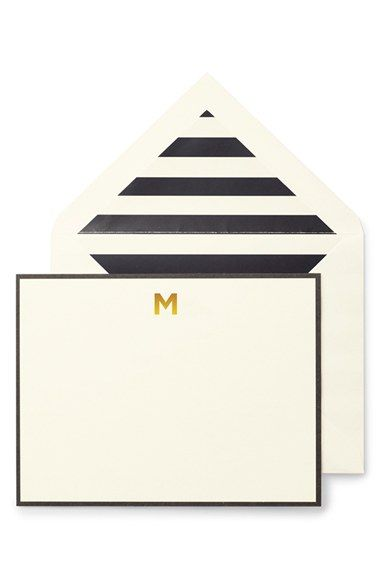 kate spade new york monogram correspondence cards (set of 10) | Nordstrom (Love these, but obviously without the 'M')