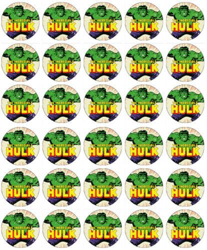 Details About 30 X Incredible Hulk Rice Paper Fairy Cup