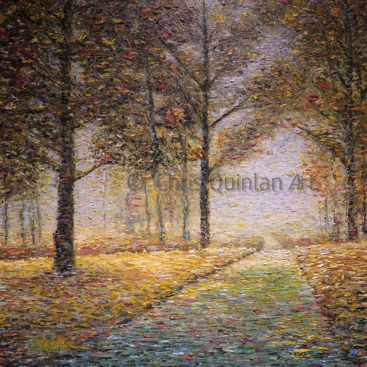 "Impressionist Landscape painting by Chris Quinlan - 24"" x 24""oil painting on canvas"