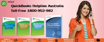 We are third Party provide QuickBooks technical support service in Australia. You can Call on QuickBooks support  Number Australia  1800-952-982. If You have any types of problems in your  QuickBooks Accounting Software like unable to use multi-user functionality, database server and MSXML glitches, SQL connection error, installation setup failure etc. Then you can call QuickBooks Helpline Number 1800-952-982.