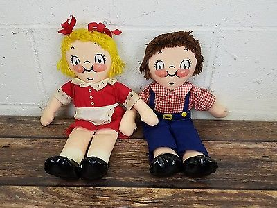 "Vintage Campbell's Soup Kids Dolls 15"" Cloth Ragdolls Campbell Soup Company"