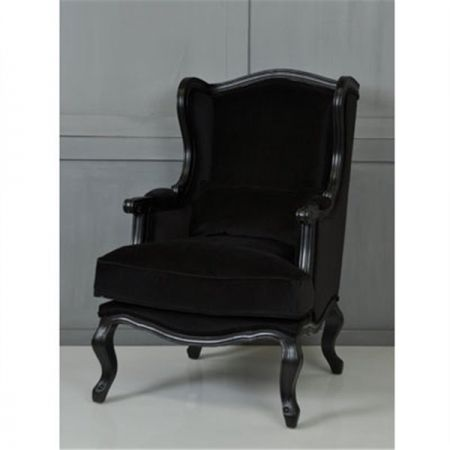 Velvet Bergere Arm Chair