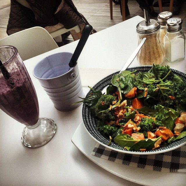 Photo #990966136713708189 from @christinapolimos. #salad #kale #health #lunch #food #yum #saturdaysarethebest #dayoff #aceballs #westfieldmiranda @cafekazu @westfieldmiranda Being good for once