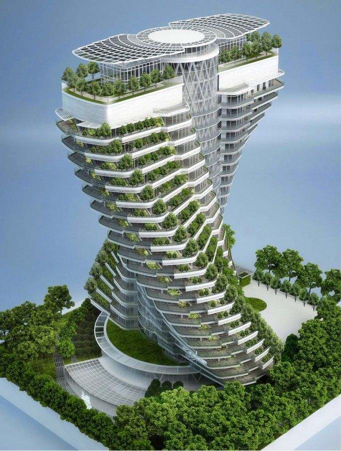 edifício verde e placa fotovoltaica