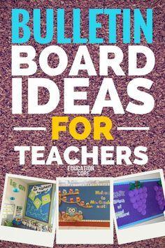 Bulletin Board Ideas for Teachers: 30 Fabulous Teacher Bulletin Boards from around the World!