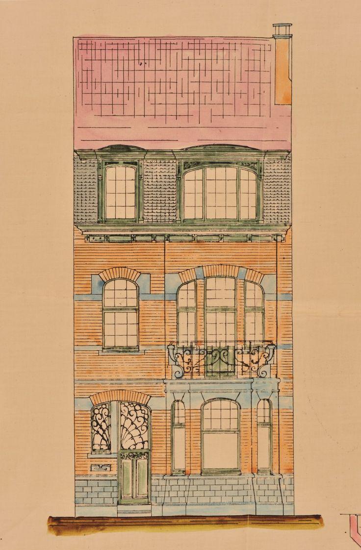 Les 554 meilleures images propos de drawing fasades for Architecture eclectique