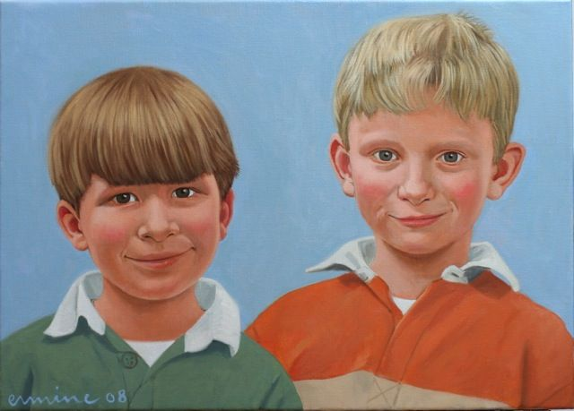 Two brothers, oil on canvas ©ermine
