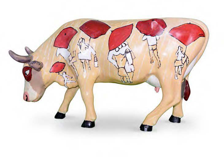 JACQUES PASQUIER PÉPINE L'ARTISTE Dans ses «Notes», Jacques Pasquier écrit de luimême : «J'aimerais qu'il soit donné de voir, à celui qui regarderait toutes mes toiles dans leur ordre de création, les… - Cornette de Saint Cyr - 31/10/2015 #Vache #Cow