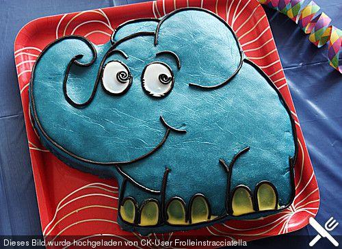 Lettas kleine blaue Elefant  - Motivtorte, ein beliebtes Rezept aus der Kategorie Kuchen. Bewertungen: 150. Durchschnitt: Ø 4,6.