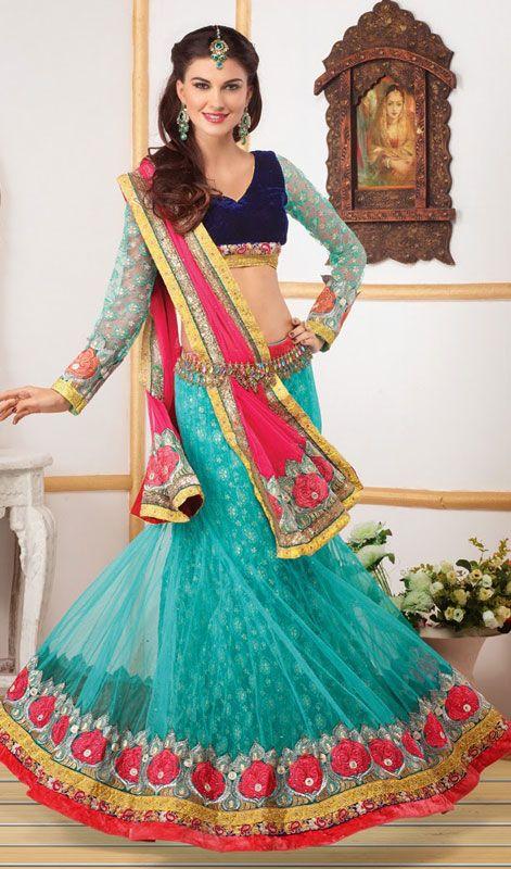 16 best Net Lehenga Choli Skirts Buy Online images on Pinterest ...