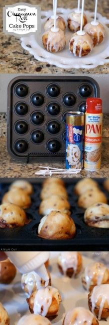 Cinnamon roll cake pops ...easy and delicious! #recipes