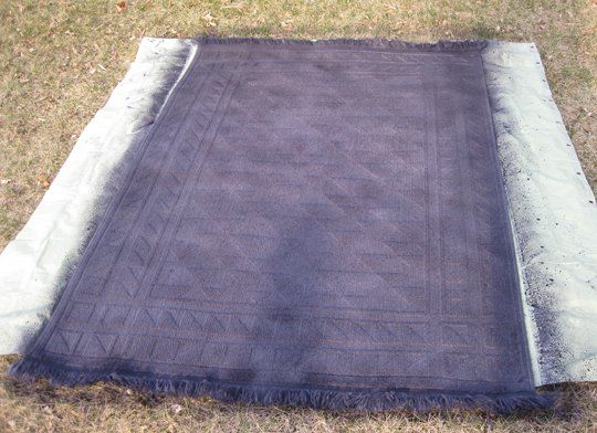 DIY Dyed Rug