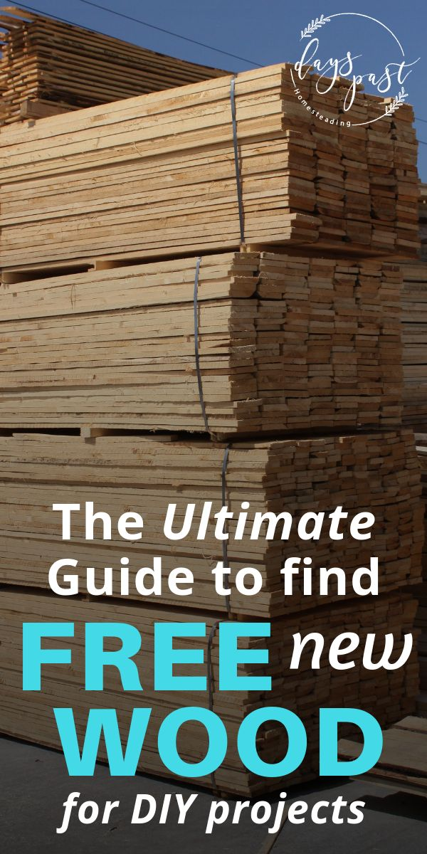 How to find free wood for DIY projects