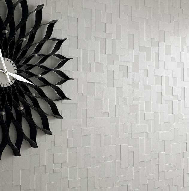 Checker Wallpaper Taking its inspiration from mordern architecture and a mix of contrasting textures and surfaces. Checker features multi-layering textures and shadow for an exaggerated 3D geometric effect. This product is non-woven paste-the-wall making it easier to hang and remove.