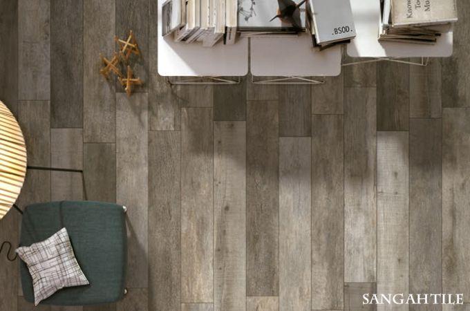 Tile - NOON Collection 15x60, 20x120 / by MIRAGE 내추럴한 우드느낌을 살리는 거실연출엔 noon . #tile #tiles #Sangahtile #design #interior #floor #wood #natural #woodtile #book #interiordesign #livingroom #타일 #상아타일 #내추럴 #우드타일 #인테리어 #거실타일 #배란다 #타일 #의자 #욕실