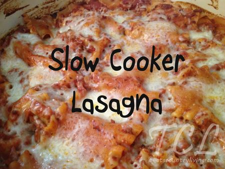 Slow Cooker Lasagna recipe - made this the other night.. DELISH!