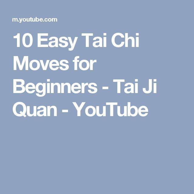 10 Easy Tai Chi Moves for Beginners - Tai Ji Quan - YouTube