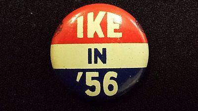 "Vintage 1956 ""Ike in '56"" Pinback Button - Dwight Eisenhower"