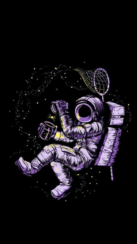 Космические картинки космонавта нарисованные