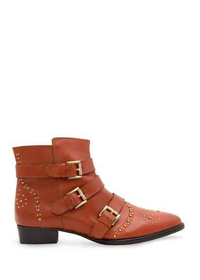 touch. leather studded booties.. yes please