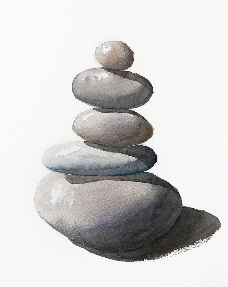 einfache Aquarell-Kieselsteine #aquarell #einfach…