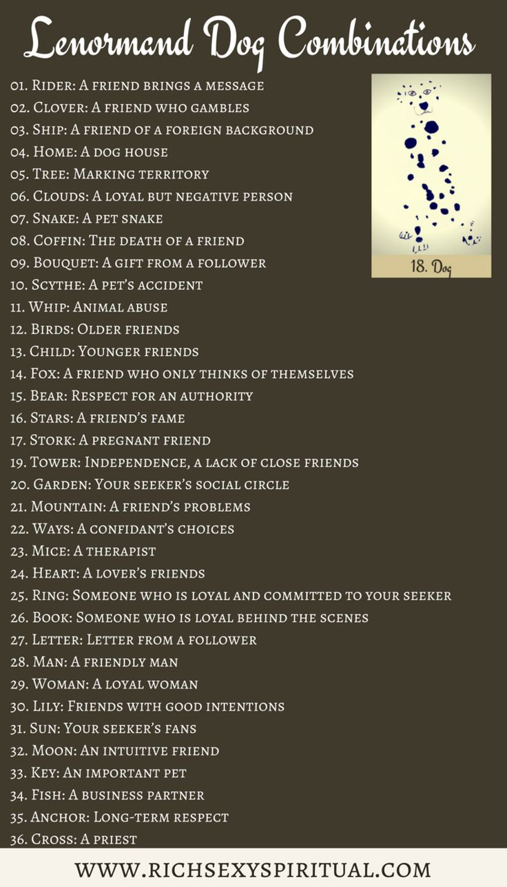 Card Deck Cheat Sheets Birds Lenormand Meaning And